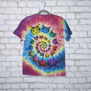 Grateful Cats Dead Tie Dye T-shirt Swirl Tee